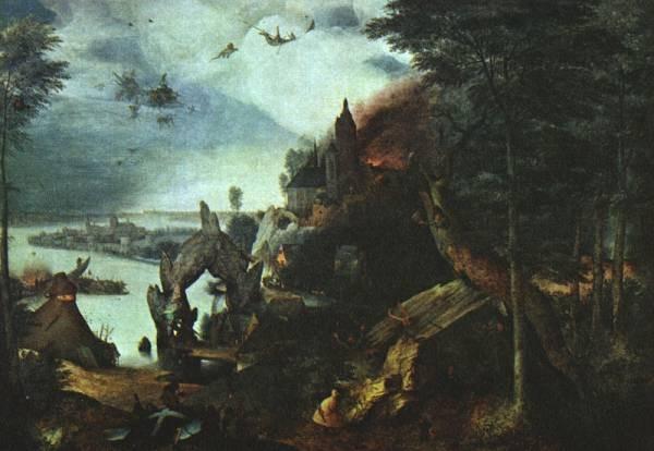 Pieter the Elder Landscape With The Temptation Of Saint Anthony